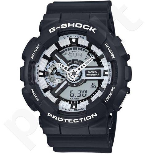 Casio G-Shock GA-110BW-1ADR vyriškas laikrodis-chronometras