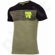 Marškinėliai 4f M H4L17-TSM012 žalio atspalvio