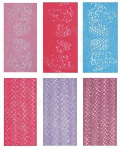 Vienspalvės medvilninės pėdkelnės su žakardiniu 3D raštu (violetinė)