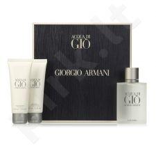 Giorgio Armani Acqua di Gio rinkinys vyrams, (EDT 100ml + 75ml losjonas po skutimosi + 75ml dušo želė)