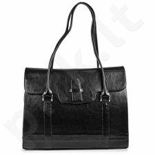 DAN-A T176 juoda rankinė iš natūralios odos , moteriška