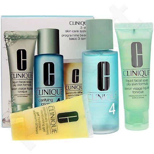 Clinique (50ml Liquid Facial Soap + 100ml Clarifying Lotion 4 + 30ml DDMgel) 3step Skin Care System4, 50ml, kosmetika moterims