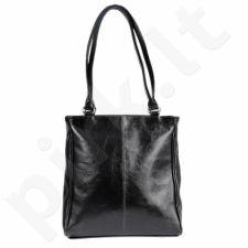 DAN-A T177 juoda rankinė iš natūralios odos , moteriška
