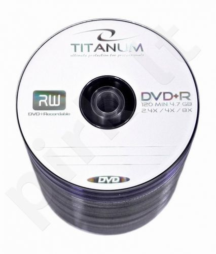 DVD+R TITANUM [ spindle 100 | 4.7GB | 8x ]