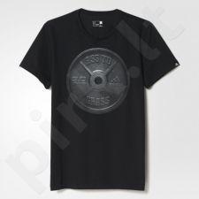 Marškinėliai treniruotėms Adidas Weightlifting Graphic Tee M AY6935