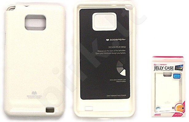 Samsung Galaxy S2 dėklas JELLY Mercury baltas
