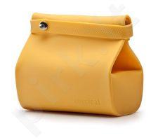 Silikoninis maišelis maistui FoodBag, geltonas