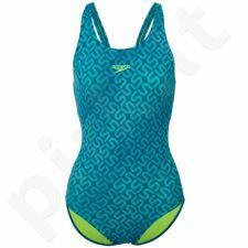 Maudymosi kostiumėlis Speedo Monogram Allover Muscleback W 8-09247A588