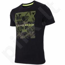 Marškinėliai 4f M H4L17-TSM009 juoda