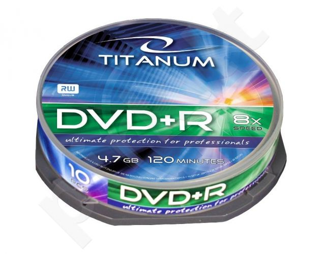 DVD+R TITANUM [ cake box 10 vnt | 4.7GB | 8x ]