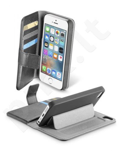 Apple iPhone 5/5S atverčiamas dėklas Agenda Cellular juodas