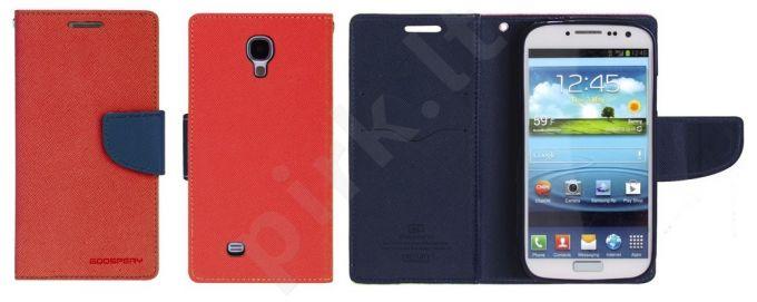 Samsung Galaxy S4 dėklas FANCY Mercury raudonas/mėlynas