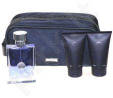 Versace (EDT 100 ml + 100 ml dušo želė +kosmetikos krepšys) Pour Homme, rinkinys vyrams