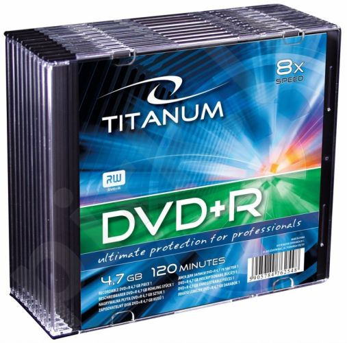 DVD+R TITANUM [ slim jewel case 10 | 4.7GB | 8x ]