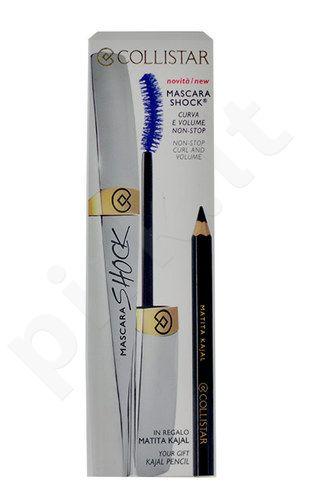 Collistar blakstienų tušas Shock Volume rinkinys moterims, (8ml blakstienų tušas Blue Shock + 1vnt Kajal Pencil Eye Black) , (Blu)