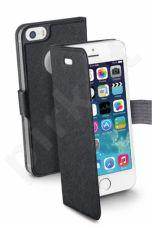 Apple iPhone 5/5S atverčiamas dėklas Slim Cellular juodas