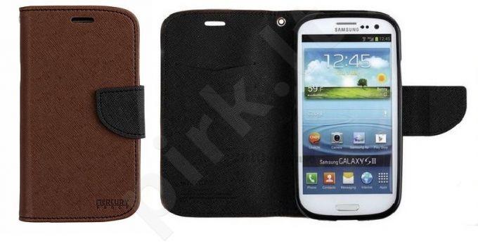 Samsung Galaxy S4 dėklas FANCY Mercury rudas/juodas