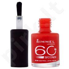 Rimmel London 60 Seconds nagų lakas, kosmetika moterims, 8ml, (318 Stand To Attention)