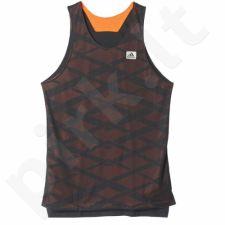 Marškinėliai krepšiniui dvipusė  Adidas ABL Reversible Tank AP0186