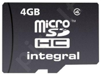 Atminties kortelė Integral microSDHC 4GB CL4