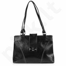 DAN-A T196 juoda rankinė iš natūralios odos , moteriška