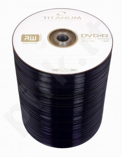 DVD+R DL TITANUM [ spindle 100 | 8,5GB | 8x ]