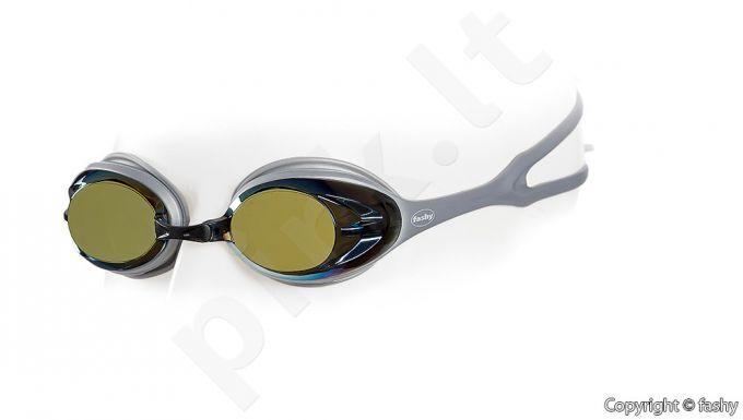 Plaukimo akiniai POWER MIRROR 4156 33 golden