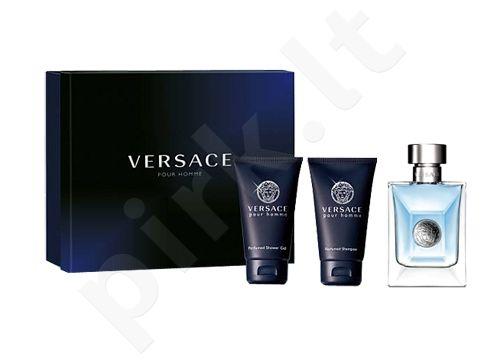 Versace (EDT 50 ml + 50 ml dušo želė + 50 ml šampūnas) Pour Homme, rinkinys vyrams