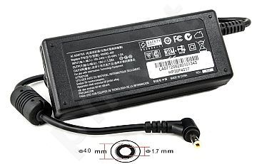 Notebook power supply HP 220V, 30W: 19V, 1.58A