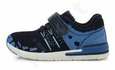D.D. step tamsiai mėlyni sportiniai bateliai 26-31 d.csb-078bm