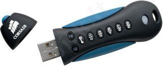 Atmintukas Corsair Padlock 2 8GB, Guminis, 256-bitų šifravimas, su PIN kodu