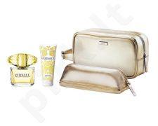 Versace (EDT 90 ml + 100 ml kūno losjonas + kosmetikos krepšys) Yellow Diamond, rinkinys moterims