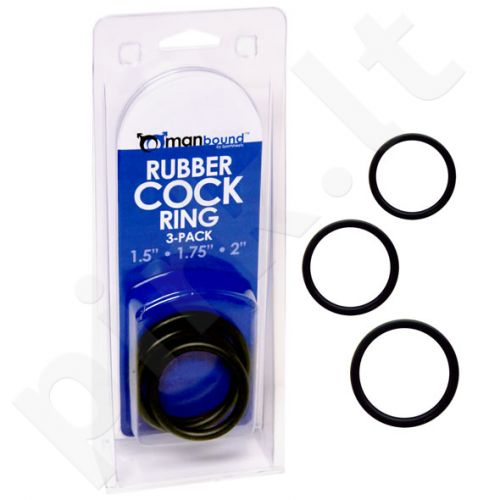Rubber Cock Ring 3-pack