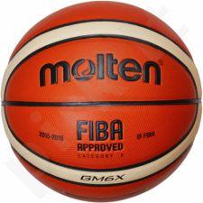 Krepšinio kamuolys training BGM6X FIBA sint. oda