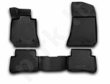 Guminiai kilimėliai 3D MERCEDES-BENZ E-class W212 2014-2016, sedan, (Europe), 4 pcs. /L46003