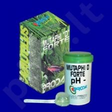 """PRODAC MUTAPHI """"D""""     FORTE  pH-  priemonė vandens pH lygiui reguliuoti 130gr"""