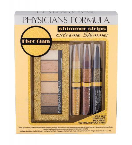 Physicians Formula Extreme Shimmer Kit, Shimmer Strips, rinkinys akių šešėliai moterims, (akių šešėliai Kit 3,4 g + akių kontūrų pieštukas Kohl Kajal & Liquid Liner 3 x 3,7 ml), (Gold Nude)