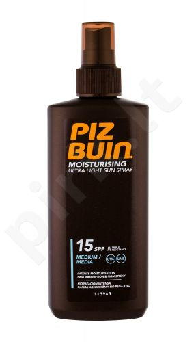 PIZ BUIN Moisturising, Ultra Light Sun Spray, Sun kūno losjonas moterims, 200ml