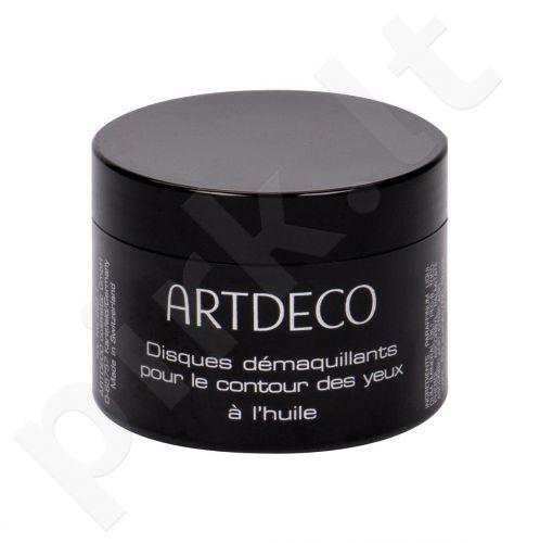 Artdeco Eye Make-up Remover, Eye Make-up Remover Pads Oily, drėgnosios servetėlės moterims, 60pc