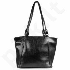 DAN-A T208 juoda rankinė iš natūralios odos , moteriška