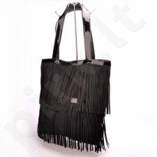 MADE IN ITALY Spalla 227 rankinė odinė  juoda