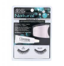 Ardell Demi 101, Natural, rinkinys dirbtinės blakstienos moterims, (Eyelashes Demi Wispies 101 1 pair + Eyeůasjes Glue 2,5 g + Applicator), (Black)
