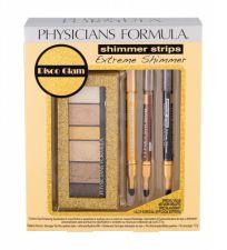 Physicians Formula Extreme Shimmer Kit, Shimmer Strips, rinkinys akių šešėliai moterims, (akių šešėliai Kit 3,4 g + akių kontūrų priemonė Pencil & Smudger 3 x 0,6 g), (Gold Nude)