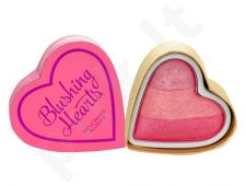 Makeup Revolution London I Love Makeup skaistalai  Hearts Triple Baked skaistalai, kosmetika moterims, 10g, (Peachy Pink Kisses)
