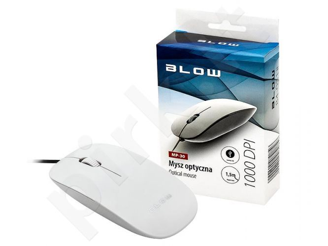 BLOW Optical mouse MP-30 USB white