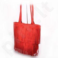 MADE IN ITALY Spalla 228 rankinė odinė  raudona