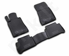 Guminiai kilimėliai 3D MERCEDES-BENZ E-class W211 (rear drive) 2002-2009, 4 pcs. /L46017