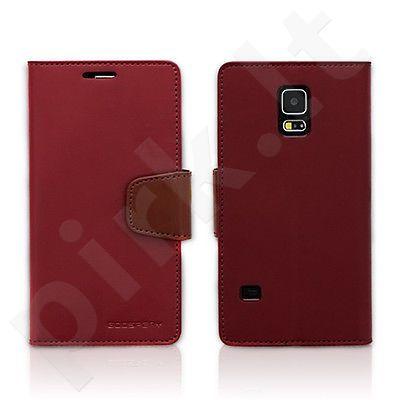 Samsung Galaxy S5 dėklas SONATA Mercury wine/rudas