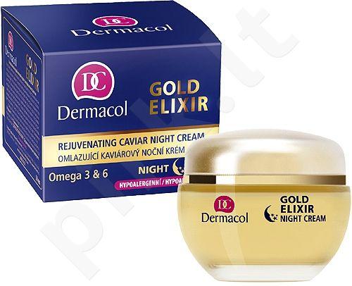 Dermacol Gold Elixir, naktinis kremas moterims, 50ml
