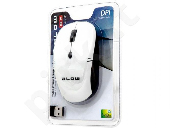 BLOW Optical Wireless Mouse MP-10 USB white